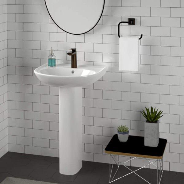 Ayaklı Yeni Tasarım Banyo Lavabo Modelleri 5