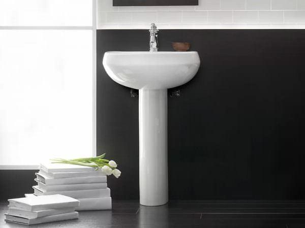 Ayaklı Yeni Tasarım Banyo Lavabo Modelleri 6
