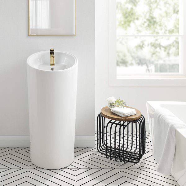 Ayaklı Yeni Tasarım Banyo Lavabo Modelleri 1