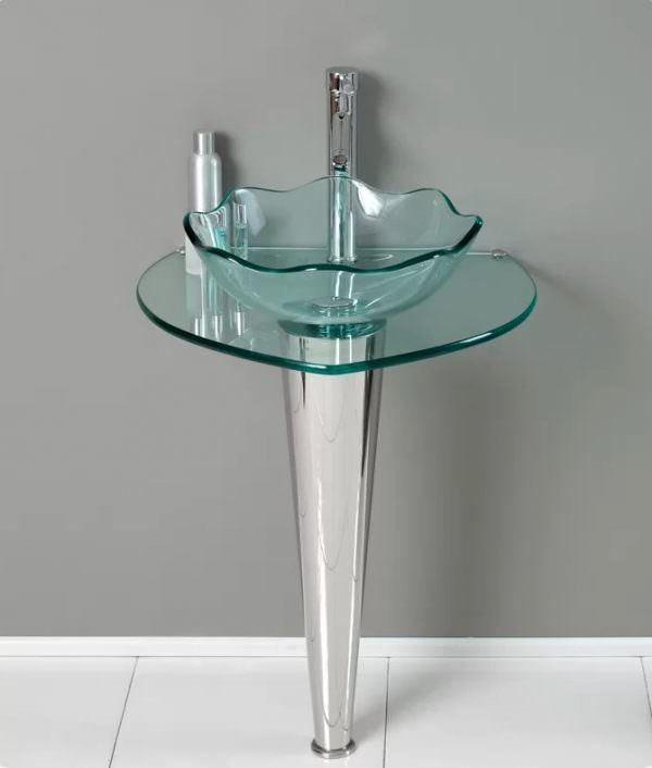 Ayaklı Yeni Tasarım Banyo Lavabo Modelleri 26