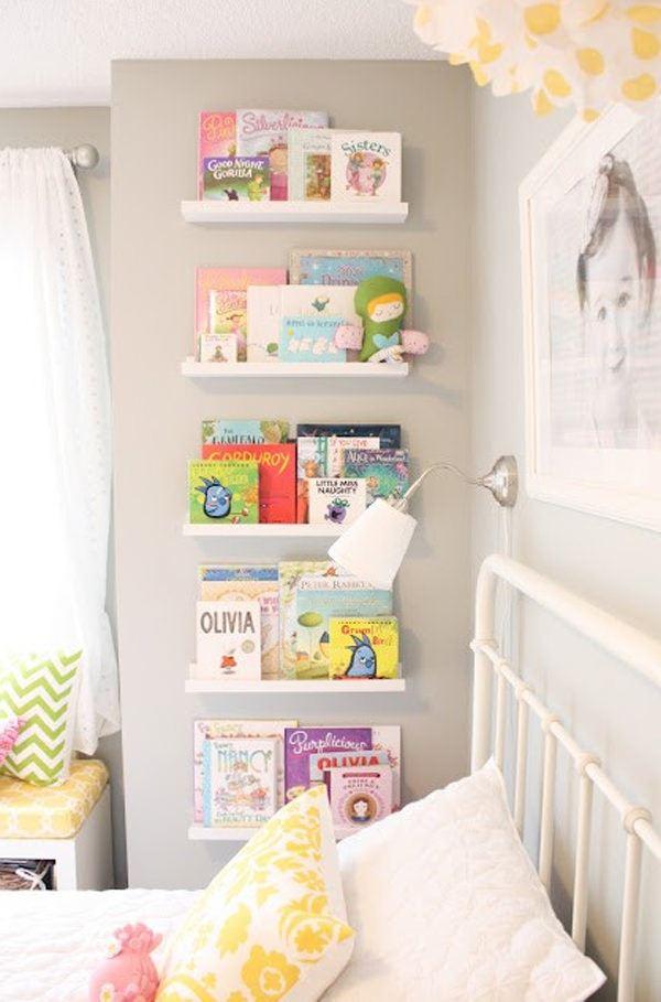 Çocuk Odası İçin Duvar Kitaplık Raf Modelleri 2