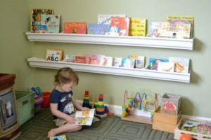 Çocuk Odası İçin Duvar Kitaplık Raf Modelleri 11