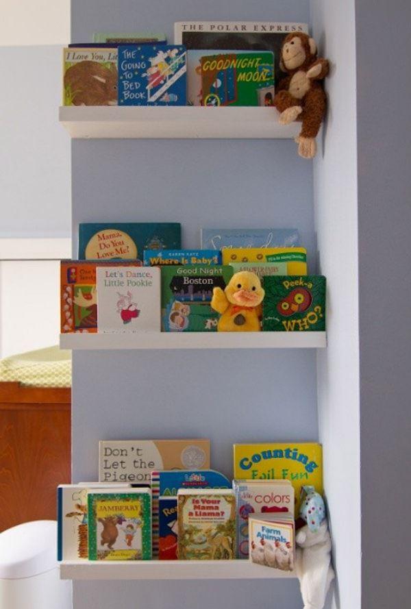 Çocuk Odası İçin Duvar Kitaplık Raf Modelleri 3