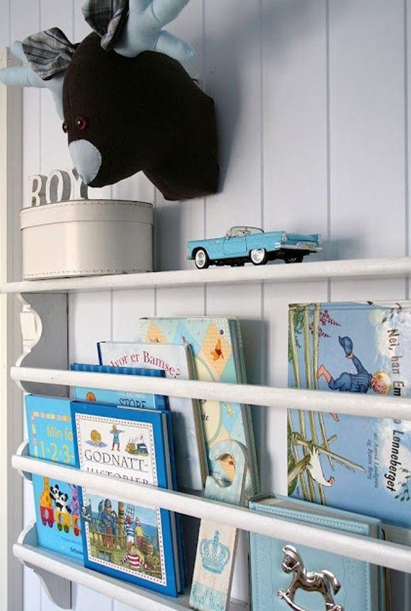 Çocuk Odası İçin Duvar Kitaplık Raf Modelleri 4