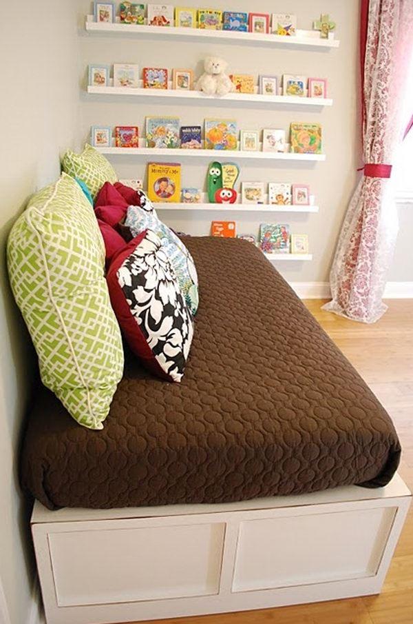 Çocuk Odası İçin Duvar Kitaplık Raf Modelleri 5