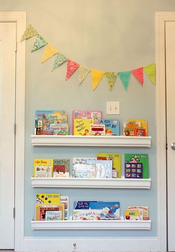Çocuk Odası İçin Duvar Kitaplık Raf Modelleri 6