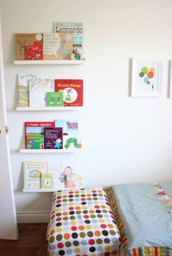 Çocuk Odası İçin Duvar Kitaplık Raf Modelleri 7