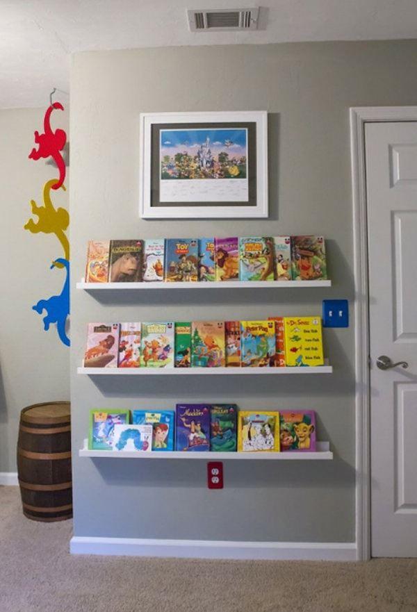 Çocuk Odası İçin Duvar Kitaplık Raf Modelleri 8