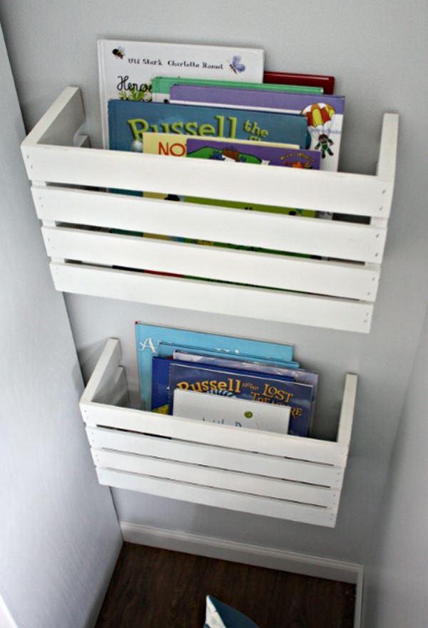 Çocuk Odası İçin Duvar Kitaplık Raf Modelleri 9