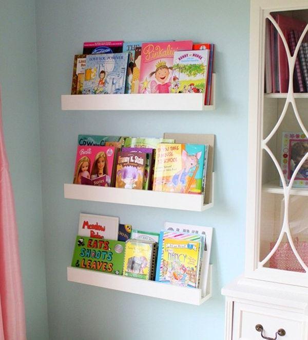 Çocuk Odası İçin Duvar Kitaplık Raf Modelleri 1
