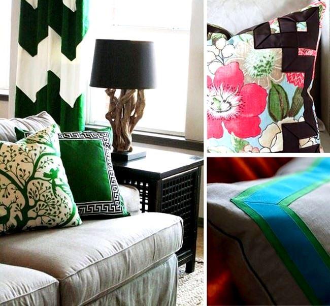 Dekoratif Modern Renkli Koltuk Kırlent Yastıklar