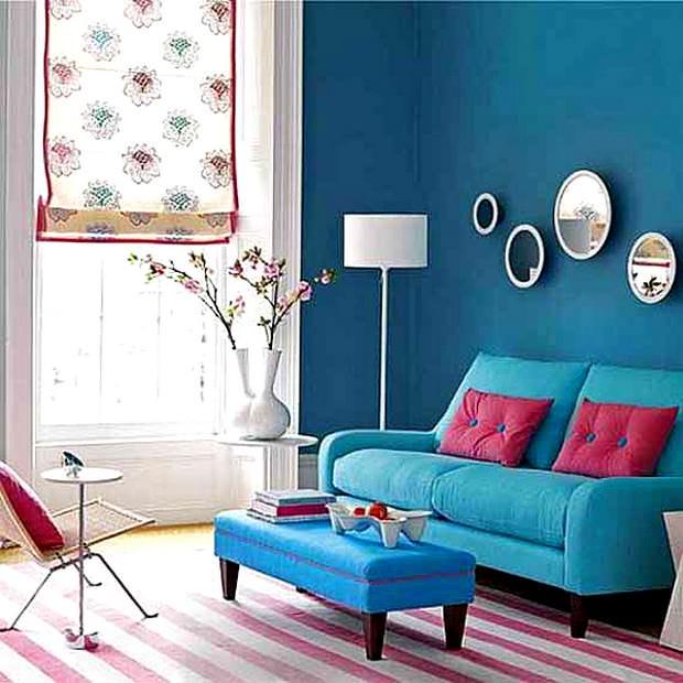 Mavi renklerle oda renkleri 23