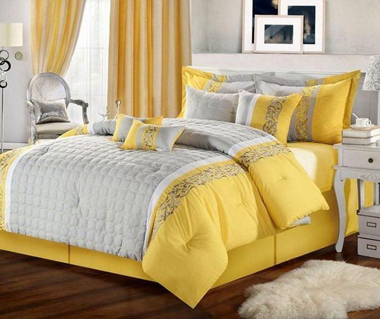 Sarı Renk Yatak Odası Dekorasyon Fikirleri 1