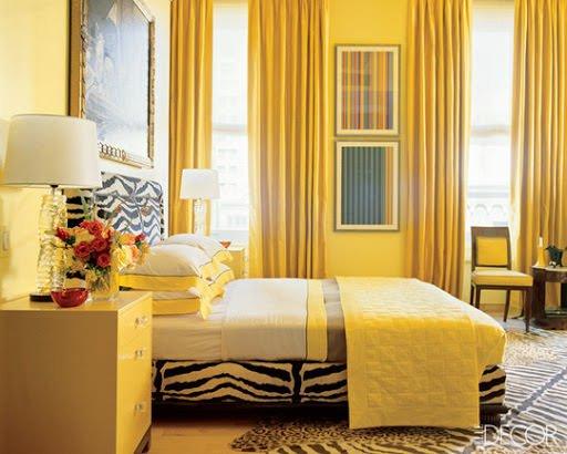 Sarı Renk Yatak Odası Dekorasyon Fikirleri