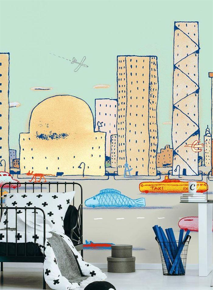 Çocuk Odası Duvar Kağıt Desenleri Ve Renkleri 11