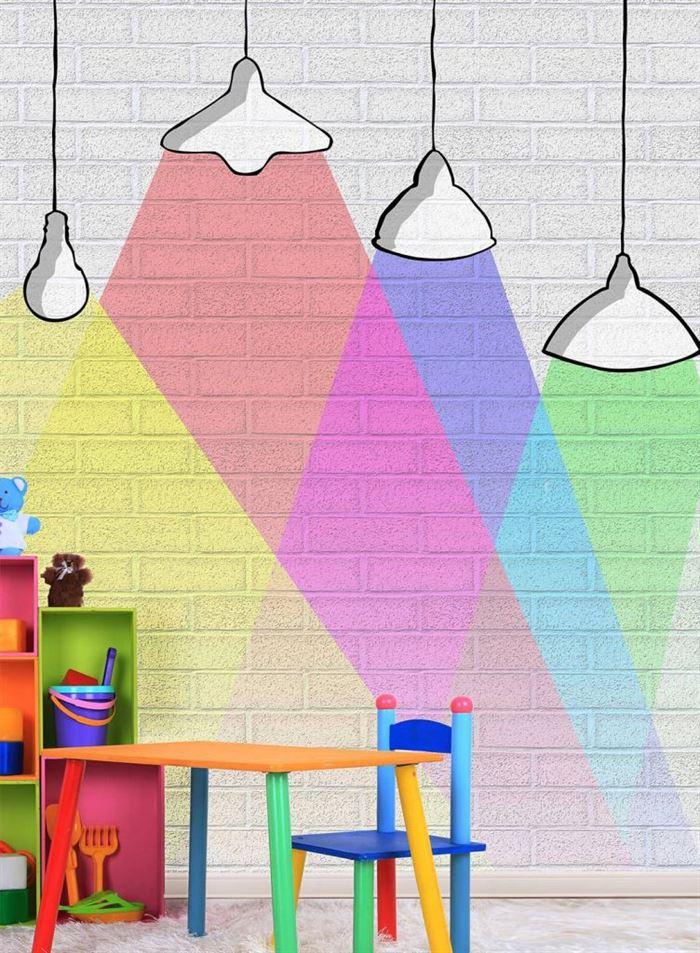 Çocuk Odası Duvar Kağıt Desenleri Ve Renkleri 12