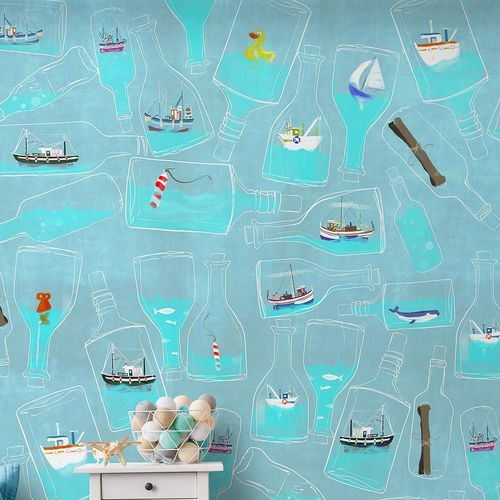 Çocuk Odası Duvar Kağıt Desenleri Ve Renkleri 3