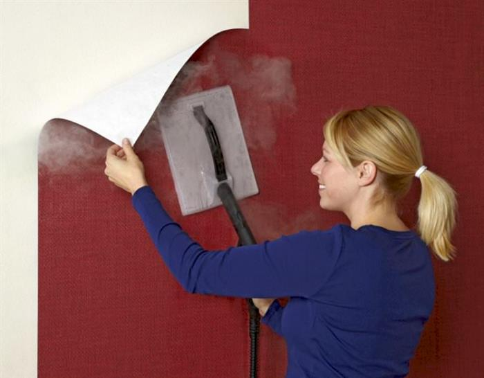 duvar kağıdı sökmek için buhar kullanın