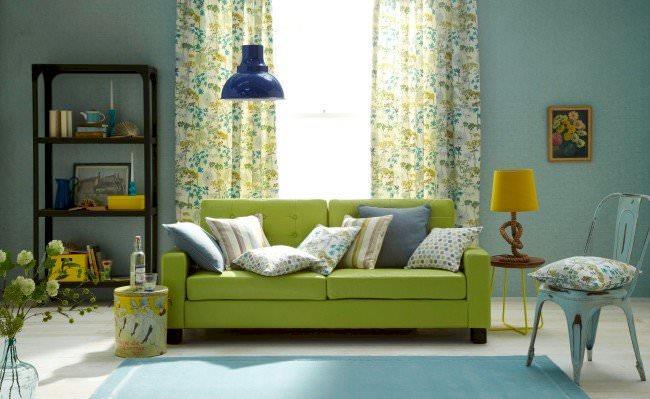 yeşil renk kanepe