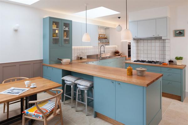 Mavi Dekorasyonlu Mutfak Modelleri