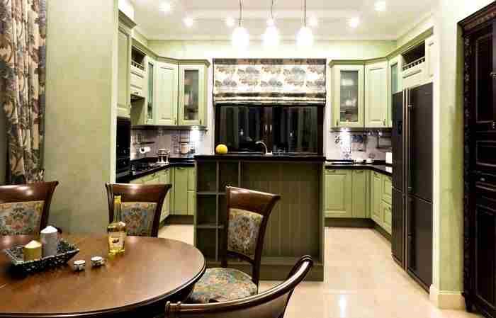 oturma odasına açılan u mutfak modelleri