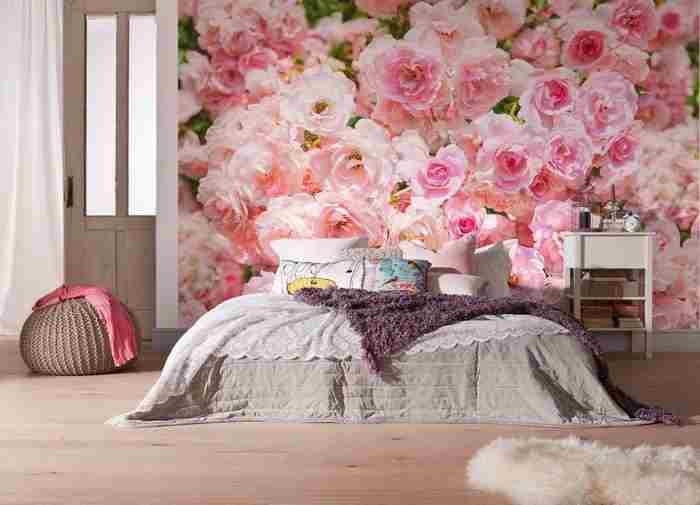Yatak odası dekorasyon ve duvar kağıdı tasarımları