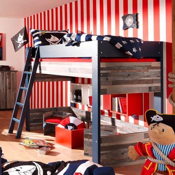 Korsan Temalı Çocuk Odası Dekorasyon