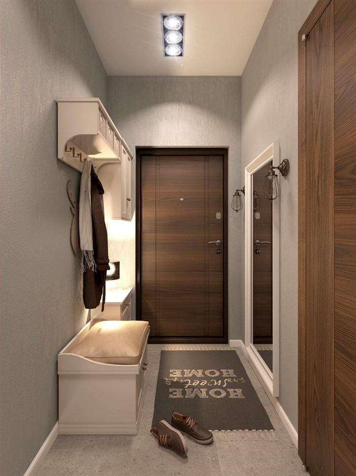 dar koridor dekorasyon mobilya aksesuar