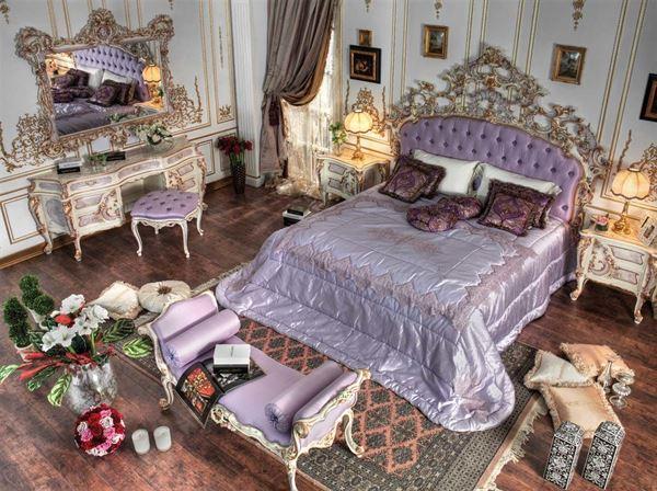 klasik-barok-tarzi-yatak-odasi