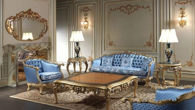 Klasik Barok Tarzı Oturma Odası Dekorasyonları
