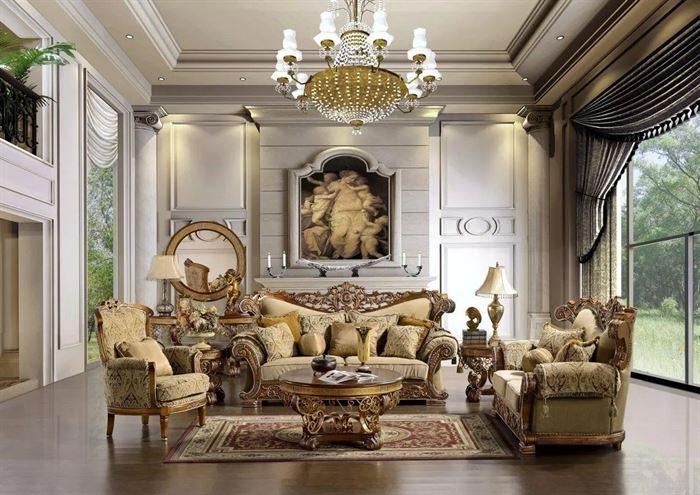 Klasik Barok Tarzı Oturma Odası Dekorasyon
