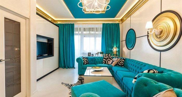 mavi-oturma-odasi-dekorasyonlari