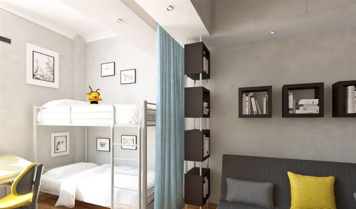 Oturma odası ve çocuk odası bir odada nasıl birleştirilir?