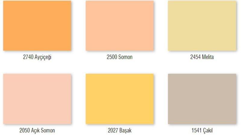 düfa duvar boya renkleri