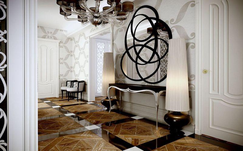 ferforje dekorasyonlu koridor