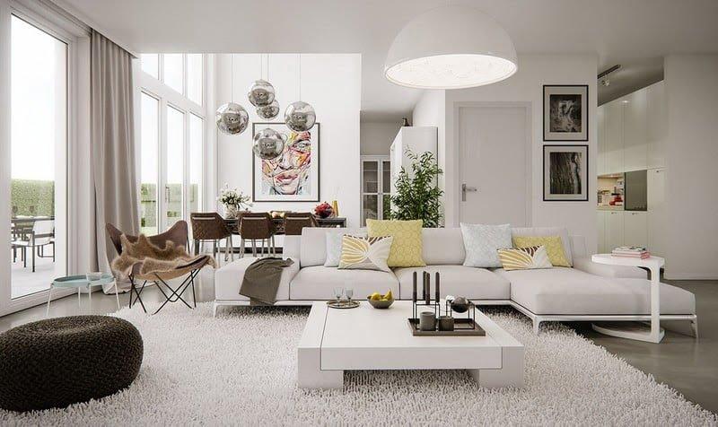 modaern-daire-dekorasyon-2021-fikirleri