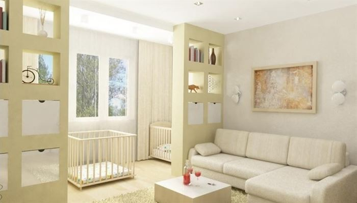 Oturma odası ve çocuk odası