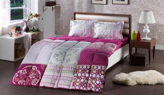 Bellona Çift Kişilik Renkli Modern Uyku Seti Modelleri 1