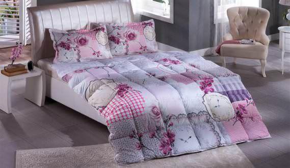 Bellona Çift Kişilik Renkli Modern Uyku Seti Modelleri 12
