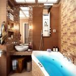 kahve tonlu banyo banyo dekorasyon modelleri
