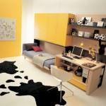küçük sarı çocuk odası mobilyası