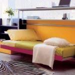 turuncu çocuk odası mobilyaları