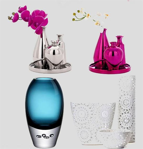 Dekoratif cam ve porselen vazo modelleri 13