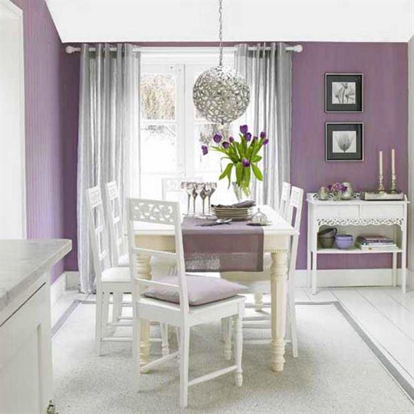Mor ve Lila Renkli Oda Renk Dekorasyonları 2