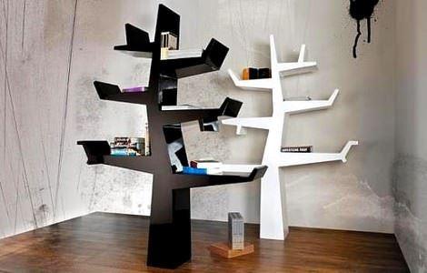 agac-kitaplik modern tasarım ahşap kitaplıklar - agac kitaplik
