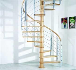Oval Dubleks Daire Merdivenleri 1
