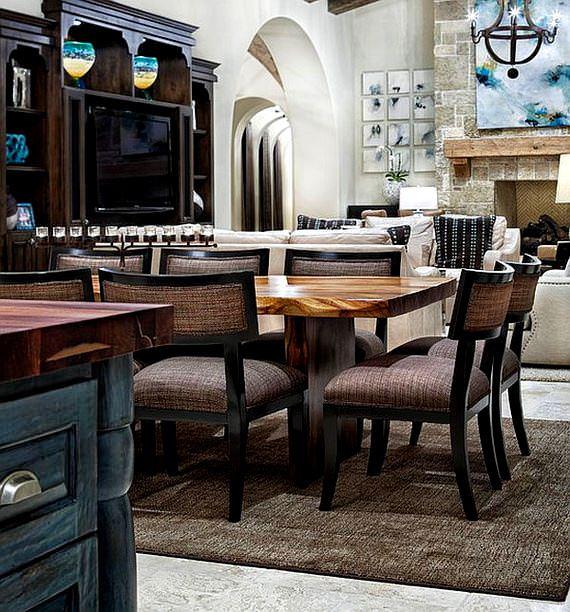 akdeniz stili yemek odası