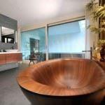 banyo ahşap küvet - banyo ahsap kuvet 150x150 - Banyolarınız İçin Ahşap Küvet Tasarımları