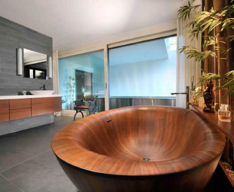 Banyolarınız İçin Ahşap Küvet Tasarımları 2