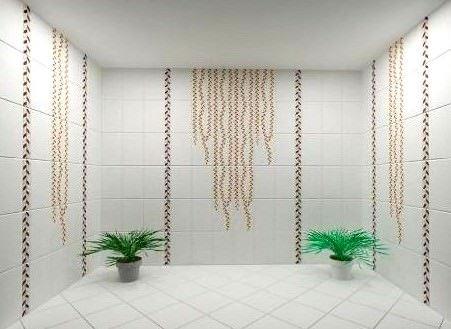 seramiksan - banyo beyaz desenli - Seramiksan Fayans ve Seramikleri